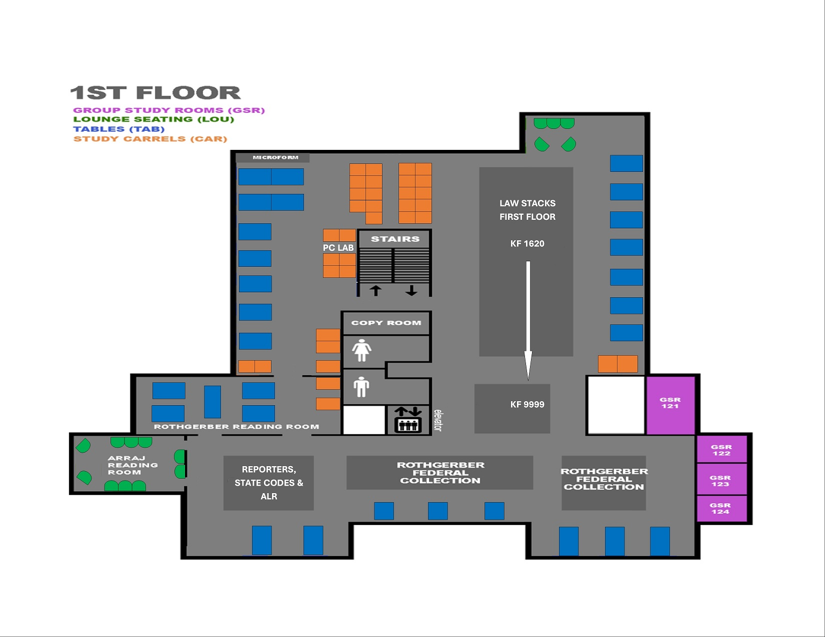 Library 1st floor floorplan