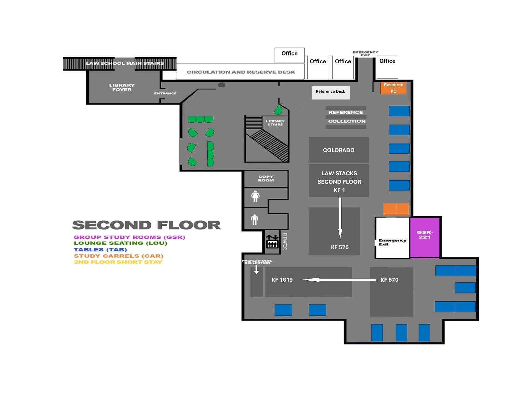 Library 2nd floor floorplan