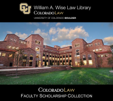 Colorado law faculty scholarship